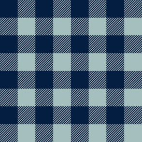 "buffalo plaid 1"" - navy and dusty blue"