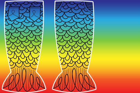 Rainbow Spectrum Tail: Kid-Sized fabric by sammyk on Spoonflower - custom fabric