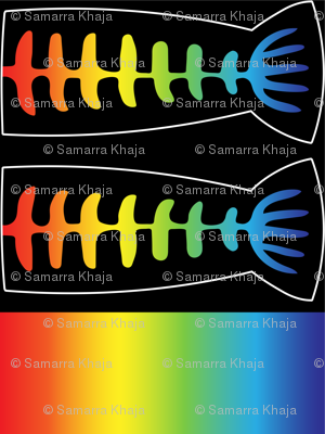 Rock-n-Roll Fish Bone Tail: Adult-Sized