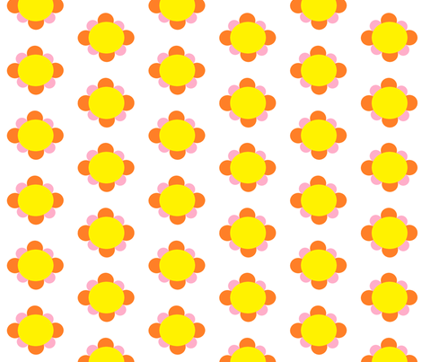 flowers fabric by lydia_e on Spoonflower - custom fabric