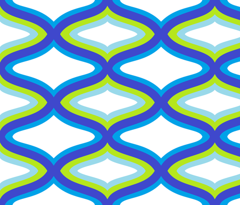 waves fabric by lydia_e on Spoonflower - custom fabric