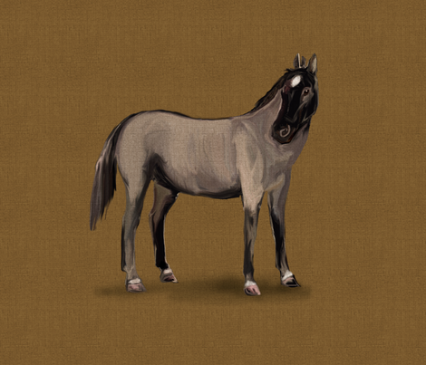 Roan Horse for pillow fabric by eclectic_house on Spoonflower - custom fabric