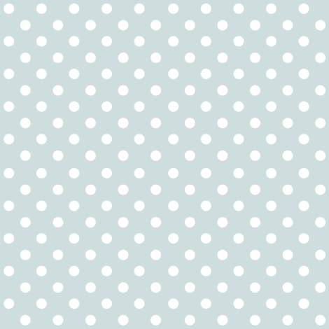 Spots on Blue Grey Large fabric by woodmouse&bobbit on Spoonflower - custom fabric