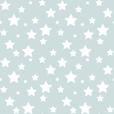 Blue Grey Stars fabric by woodmouse&bobbit on Spoonflower - custom fabric