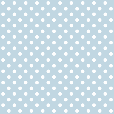 Spots on Blue Large fabric by woodmouse&bobbit on Spoonflower - custom fabric