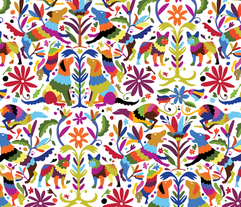 Dog Otomi Multicolor fabric by kellybozarth on Spoonflower - custom fabric