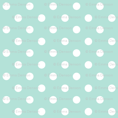 Spots on Turquoise large