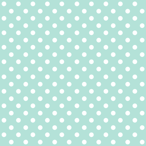 Spots on Turquoise large fabric by woodmouse&bobbit on Spoonflower - custom fabric