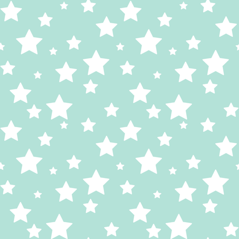 Turquoise Stars fabric by woodmouse&bobbit on Spoonflower - custom fabric