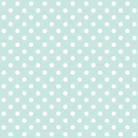Spots on Aqua Large fabric by woodmouse&bobbit on Spoonflower - custom fabric