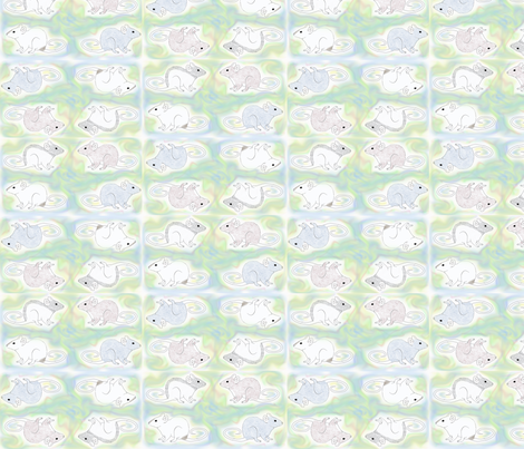 Fancy Rats on a Pastel Background fabric by rattieworld on Spoonflower - custom fabric