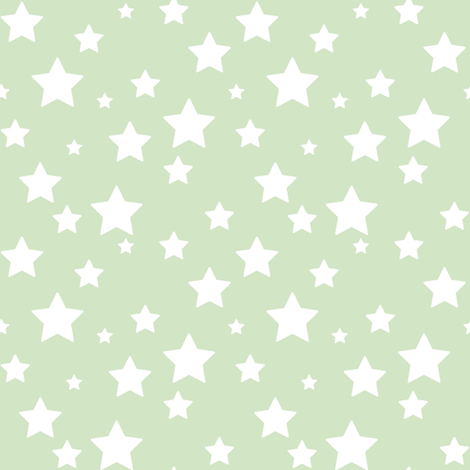 Green Stars fabric by woodmouse&bobbit on Spoonflower - custom fabric