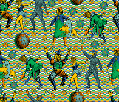 Furry Circus fabric by enid_a on Spoonflower - custom fabric