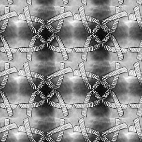 Zebra ribbon black watercolor