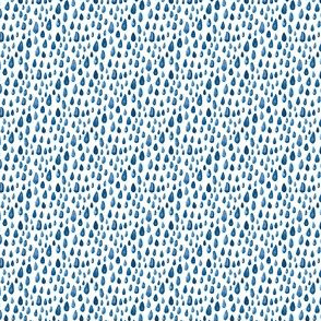 Indigo Blue Navy watercolor spots || rain drops ocean water miss chiff designs