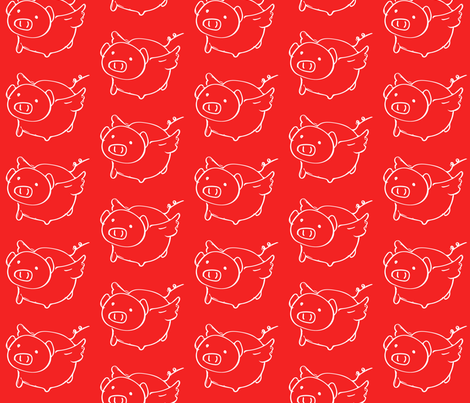 piggy piggy fabric by kimberlyk on Spoonflower - custom fabric