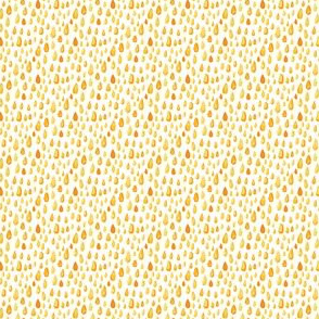 Yellow gold orange watercolor || abstract spots rain drops white Miss Chiff Designs