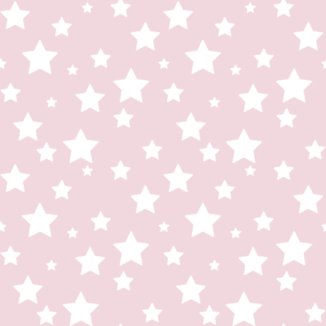 Pink Stars fabric by woodmouse&bobbit on Spoonflower - custom fabric