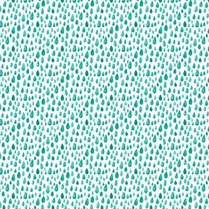 Teal Mint Green Watercolor Abstract spots || rain drops Miss Chiff Designs