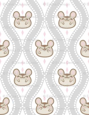 Diamond Mice Grey XL
