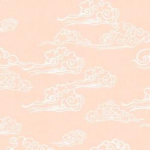 Swirling Clouds, Peach