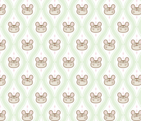 Diamond Mice Mint XL fabric by woodmouse&bobbit on Spoonflower - custom fabric