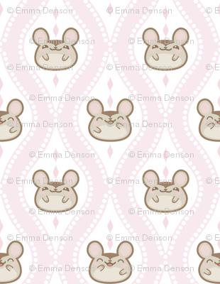 Diamond Mice Baby Pink XL