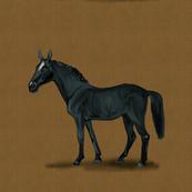 Black Horse for Pillow