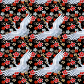 embroidery asian japanese china chinese oriental cheongsam kimono cranes storks herons birds chinoiserie flying flowers golden waves water rivers  clouds kings queens museum traditional rank regal korean kabuki geisha yuan ming qing dynasty tapestry  vint