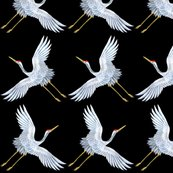 Rrspoonflower_white_flying_crane_black_bg_shop_thumb