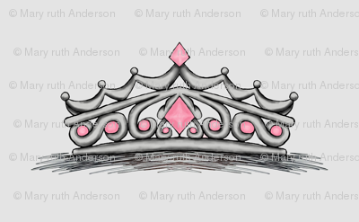 Pink Tiara- Grey Background Full Size