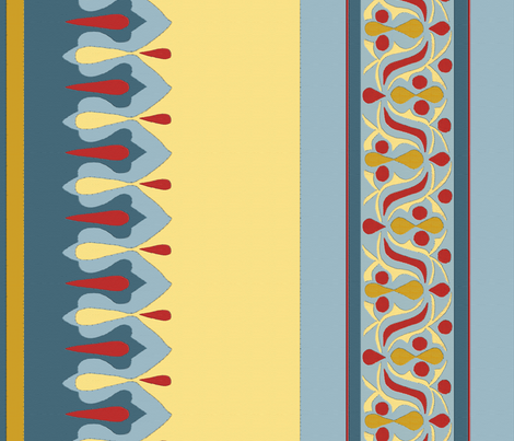 Egyptian Tent Border fabric by wanderingaloud on Spoonflower - custom fabric