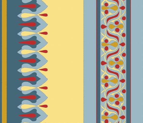 Egyptian Tent Border fabric by wanderingaloud on Spoonflower - custom fabric