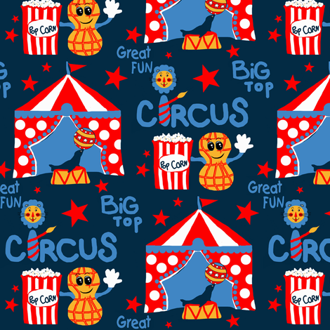 Big Top Circus Peanut  fabric by franbail on Spoonflower - custom fabric