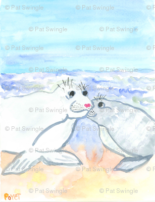 two seals in love