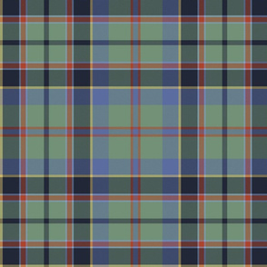 "Stevenson / Stephens tartan, 12"", faded"