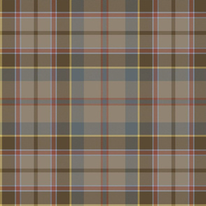 "Stevenson tartan, 12"", reproduction colors"