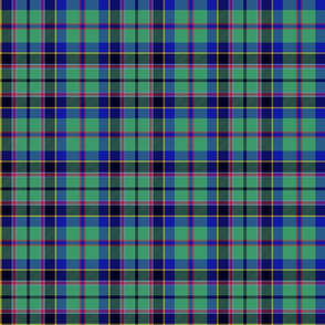 "Stevenson tartan, 6"", cool modern colors"