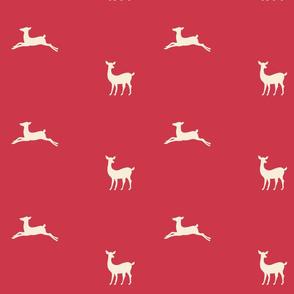 Deer 2 - red cream