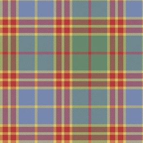 "Stevenson old tartan, 6"" faded"