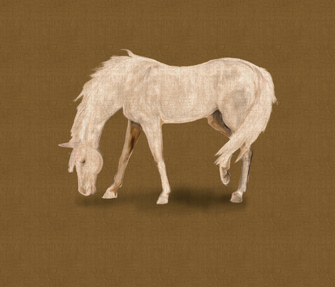 Gray Horse for Pillow fabric by eclectic_house on Spoonflower - custom fabric