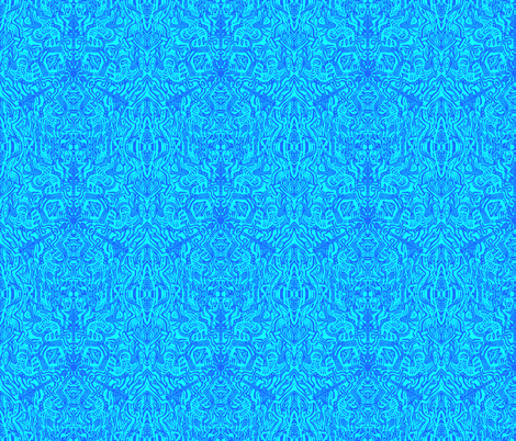 Complex Doodle Square - Dark Blue and Light Blue fabric by antonybriggs on Spoonflower - custom fabric