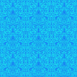 Complex Doodle Square - Dark Blue and Light Blue