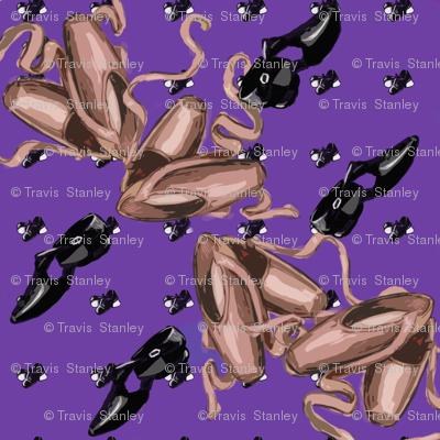 Pointe Quatrefoil Purple