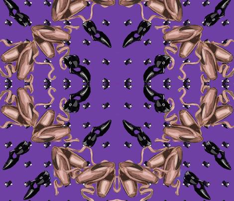 Pointe Quatrefoil Purple fabric by cloverhillillustration on Spoonflower - custom fabric