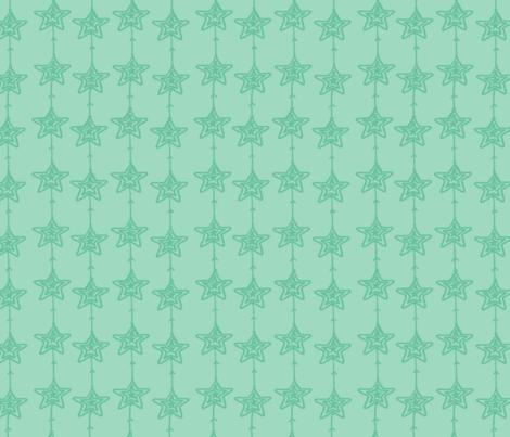 Christmas Stars Mint fabric by fat_bird_designs on Spoonflower - custom fabric