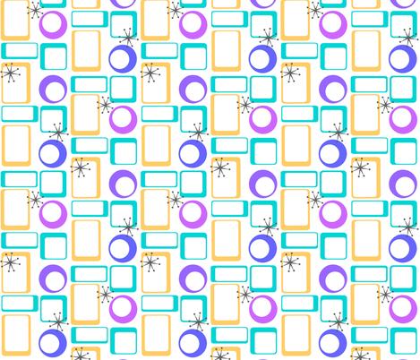 Retro Geometric fabric by lizintn on Spoonflower - custom fabric