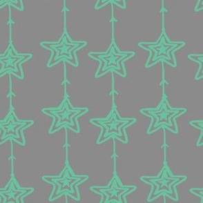 Christmas Stars Gray Mint