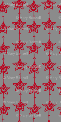 Christmas Stars gray-red
