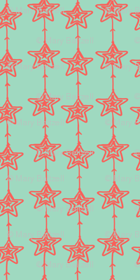 Christmas Stars mint pink
